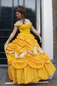 Gele jurk prinses inhuren REND entertainment
