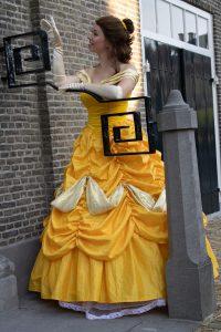 Gele jurk prinses Belle inhuren REND entertainment