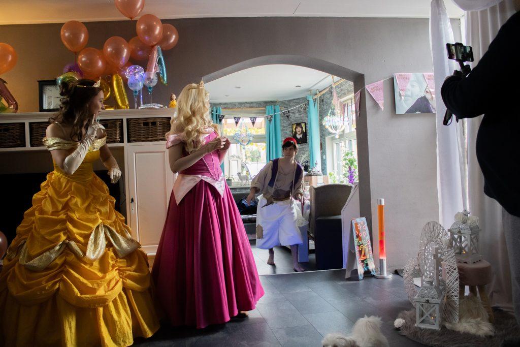 Belle Doornroosje Aladdin Kinderfeestje op maat