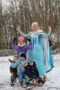 Elsa sneeuw hitland Capelle foto IJskoningin Olaf huren kinderfeestjes