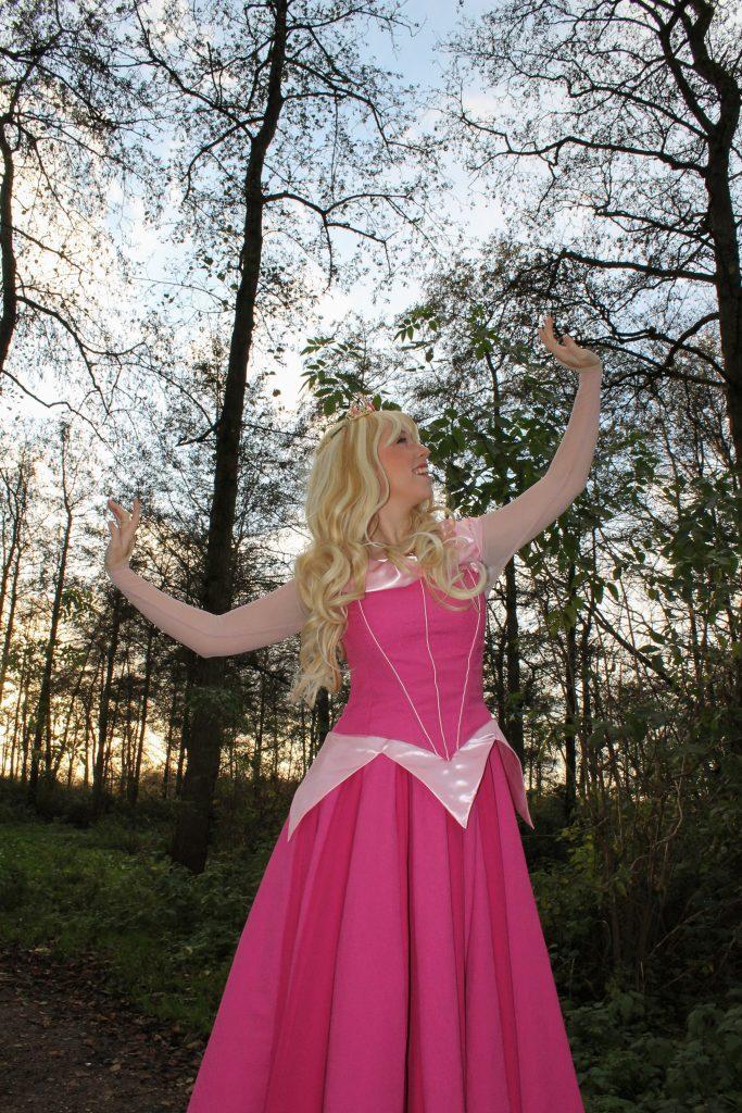 Huren Doornroosje Kinderfeestje huren prinses roze jurk prinsessenjurk prinsenhuren doornroosje huren prinses